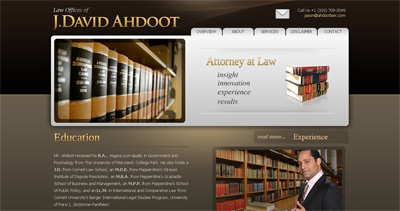 Law Offices of J.David Ahdoot Website Screenshot