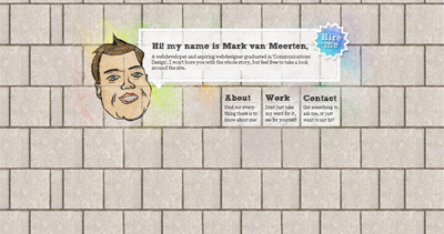 Mark van Meerten Website Screenshot