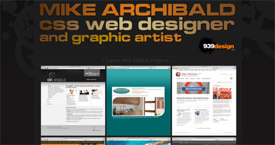 Mike Archibald Website Screenshot