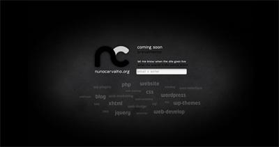 Nuno Carvalho Website Screenshot