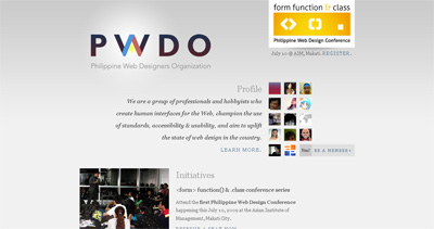 Philippine Web Designers Organization Website Screenshot