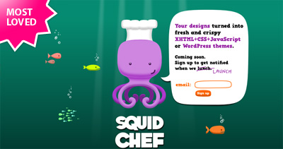 SquidChef Website Screenshot