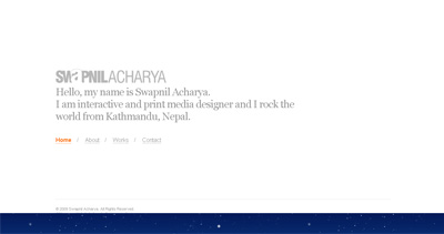 Swapnil Acharya Website Screenshot