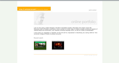 vinay d Website Screenshot