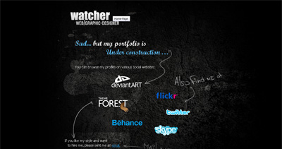 Watcher Website Screenshot