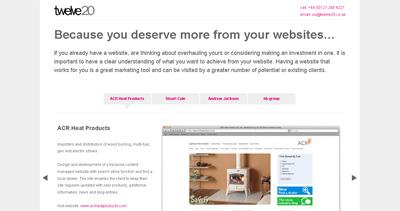 Twelve20 Website Screenshot