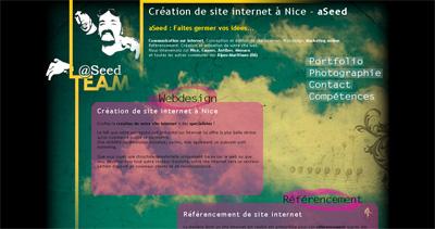 aSeed Website Screenshot