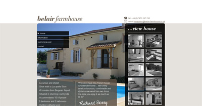 Belair Farmhouse Website Screenshot