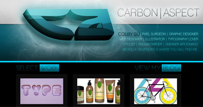 Carbon Aspect Website Screenshot