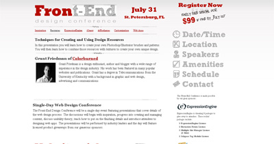 Front-End Design Conference Website Screenshot