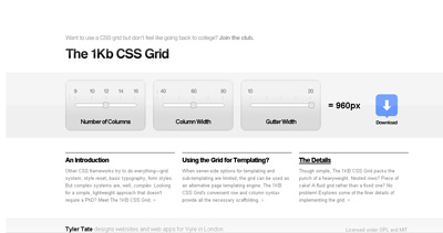 The 1KB CSS Grid Website Screenshot