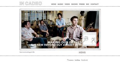 In Cadeo Website Screenshot