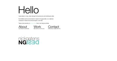 Nick Gatens Design Website Screenshot