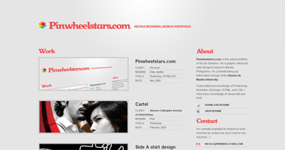 Pinwheelstars Website Screenshot