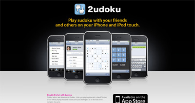 2udoku Website Screenshot