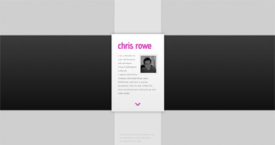 Chris Rowe Website Screenshot