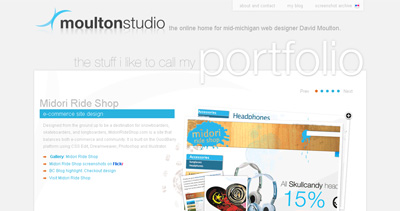 Moulton Studio Website Screenshot