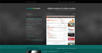 outside(in)media Website Screenshot