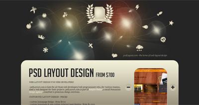 PSD layout design Website Screenshot