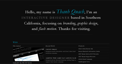 Thanh Quach Website Screenshot