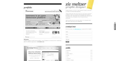 ziv meltzer Website Screenshot