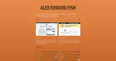 Alex Edward Fish Website Screenshot