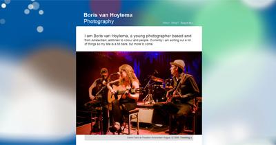 Boris van Hoytema Photography Website Screenshot