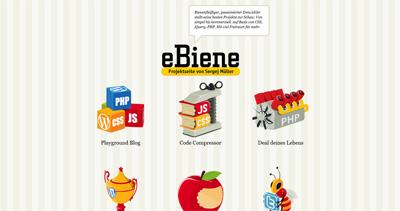 eBiene Website Screenshot