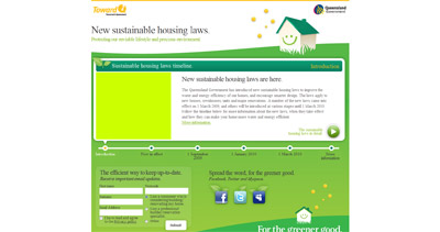 New sustainable housing laws Website Screenshot