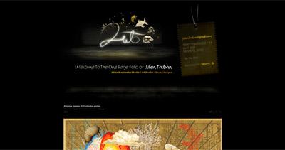 Julien Tauban Website Screenshot