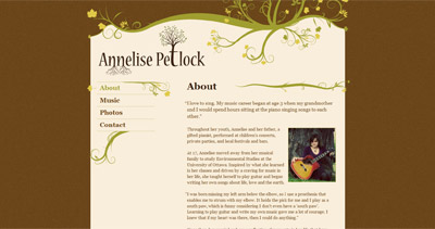 Annelise Petlock Website Screenshot