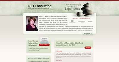 KJH Consulting Website Screenshot