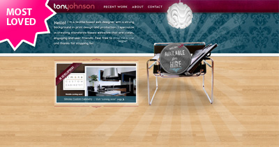 Tony Johnson Website Screenshot