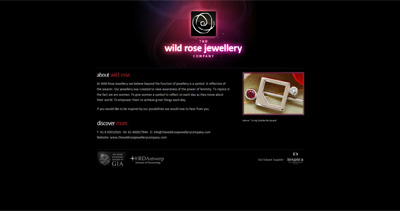 Wild Rose Jewellery Website Screenshot