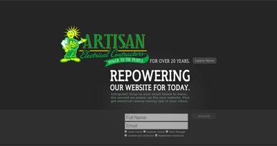Artisan Electrical Contractors Website Screenshot