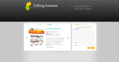 FallingAutumn Website Screenshot