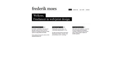 Frederik Moes Website Screenshot