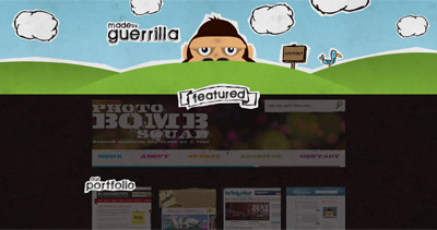 Guerrilla Website Screenshot