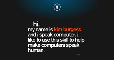Kim Burgess Website Screenshot