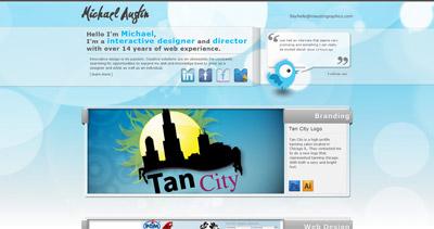 Michael Austin Website Screenshot