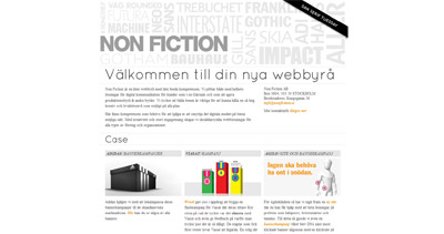 Non Fiction AB Website Screenshot