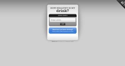 How Healthy is My Drink? Website Screenshot