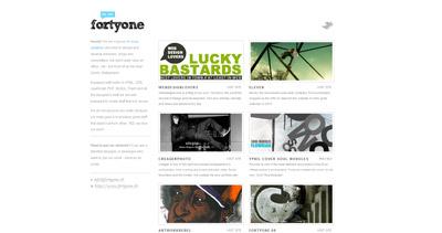 Fortyone Website Screenshot