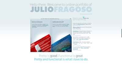 Julio Fragoso Website Screenshot