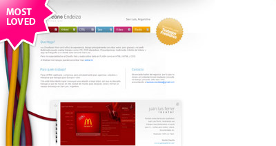 Laureano Endeiza Website Screenshot