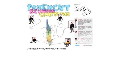 Pavement Reunion Countdown Website Screenshot