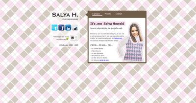 Salya Howald Website Screenshot