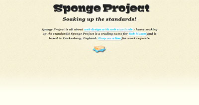 Sponge Project Website Screenshot