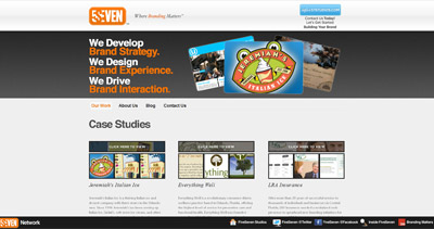 FiveSeven Studios Website Screenshot