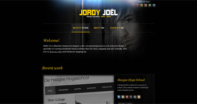 Jordy Joël Website Screenshot